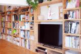 本がスッキリ収納。壁面本棚をDIY